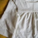 楽しいソーイング!「春の白いドレス♬♬」 ここまで縫えました!