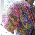 Aラインの花のドレス完成しました!♪水仙柄で今が旬!!