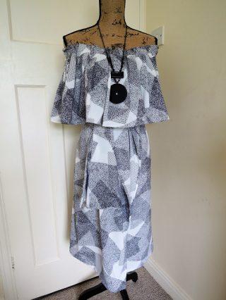 ドロップショルダーのドレス!型紙と作り方はこちら!