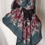 80歳の母の作品!なんと傘とスカーフで作った帽子❤