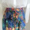 バティック生地で作ったティアードスカート完成しました!
